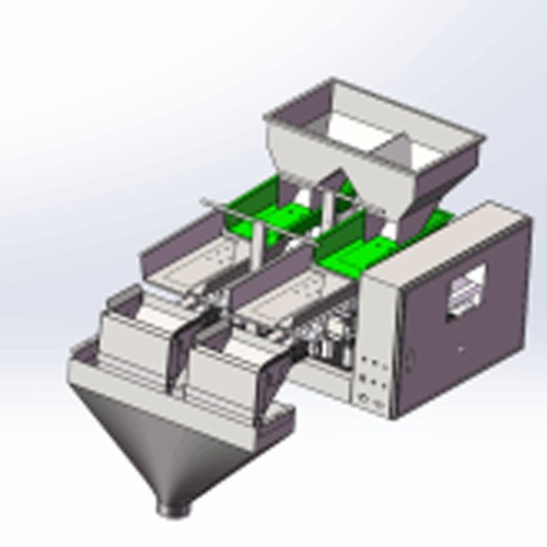 granule double layer hardware auger 2 head distributor