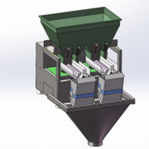 granule auger 2 head quantitative loading machine