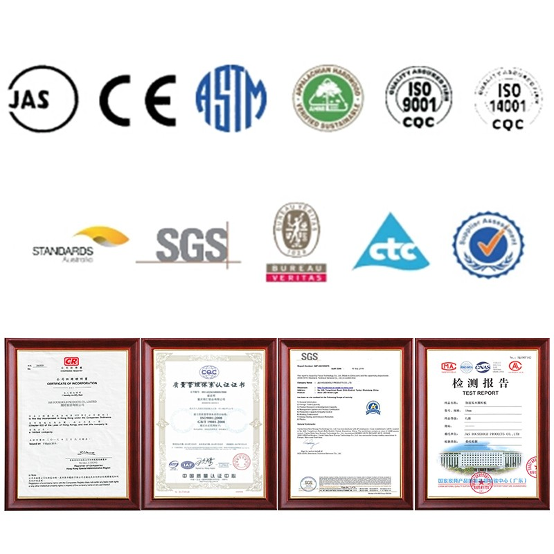 Certificates for products quality authentication