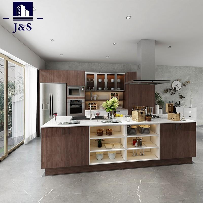 Melamine Pre Finished Ready Built Kitchen Cabinet Design