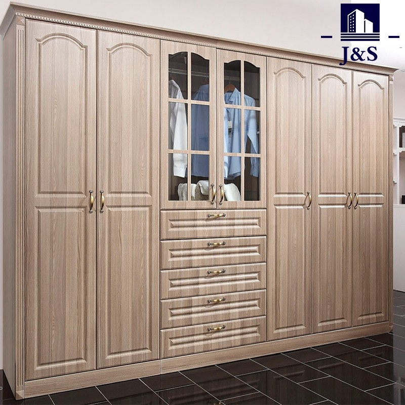 Large Corner Wooden Wardrobe Armoire Furniture