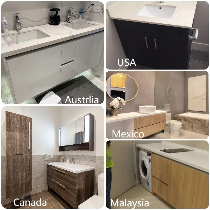 China bathroom vanity with sink
