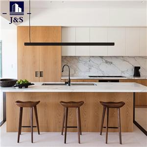 New White Modern Island Kitchen Cabinets