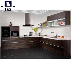 Black Semi Custom Corner House Kitchen Cabinet