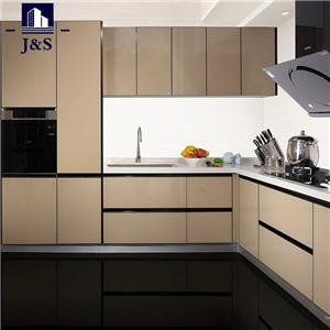 Prefab Rifinitura Stock Glass superiore Kitchen Cabinet