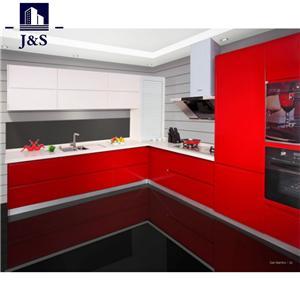 Latest Design Custom Acrylic Glossy White Door Kitchen