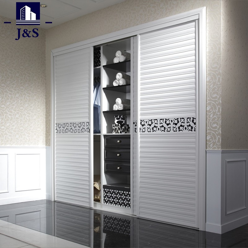 White Sliding Door Wardrobe With Drawer For Bedroom