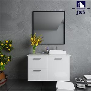 Modern Rustic Corner Bathroom Vanities Cabinet With Sink