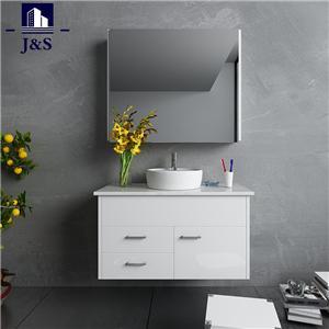 Australian White Painting Bathroom Vanity With Drawers