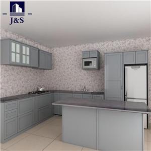 RTA antique shaker style grey kitchen cabinets