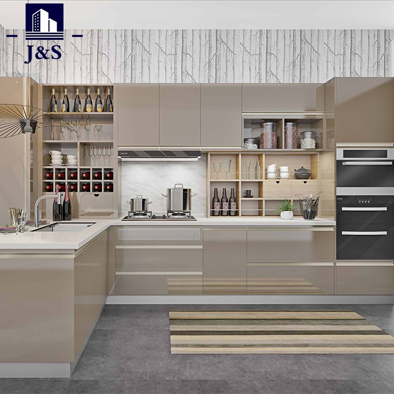 Custom made cheap cost overhead kitchen cupboards cabinets