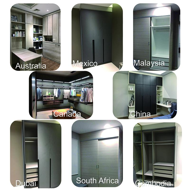 China custom made kitchen cupboards