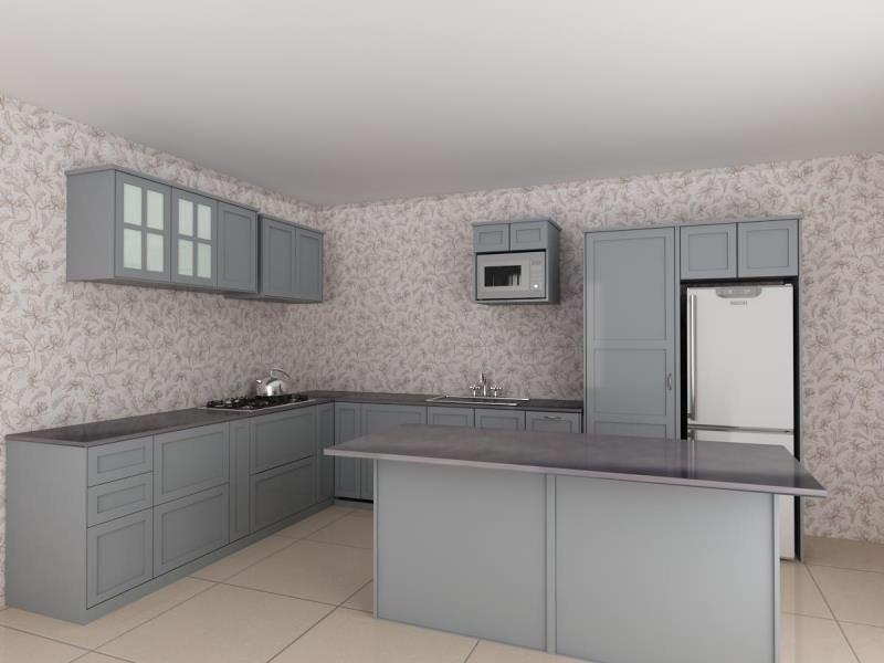 reka bentuk pulau dapur