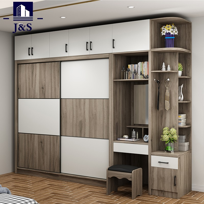 Wooden sliding wardrobe cabinet doors