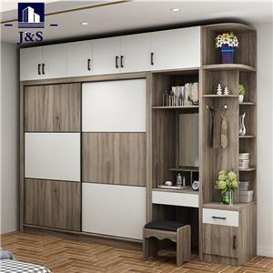 Wooden sliding wardrobe cabinet doors