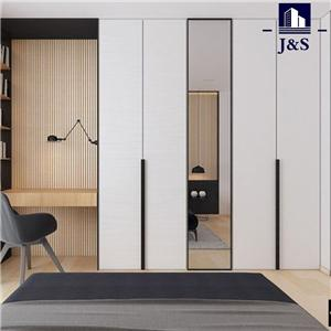 Large single mirrored wardrobe sets with drawers