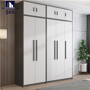 Large white designer wardrobe clothes closet