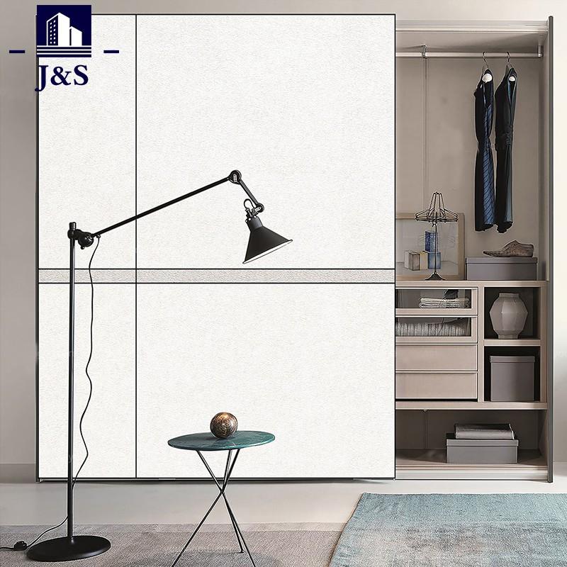 High glossy wardrobe closet double mirrored wardrobe