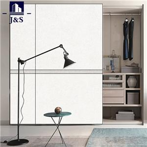 High glossy wardrobe closet double mirrored wardrobe