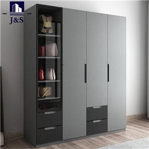Narrow bedroom furniture wardrobe closet 4 door wardrobe