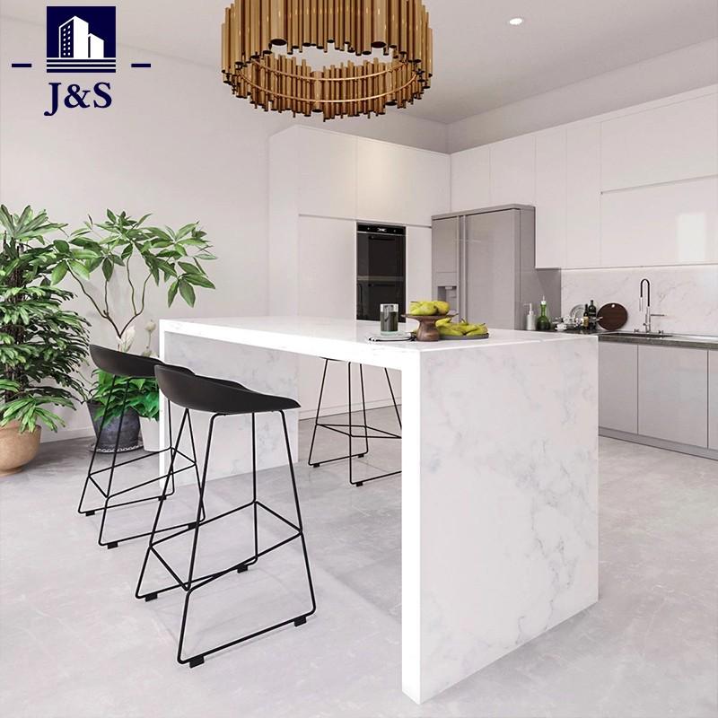Kabinet dapur berkilat tinggi reka bentuk dapur baru kebiasaan