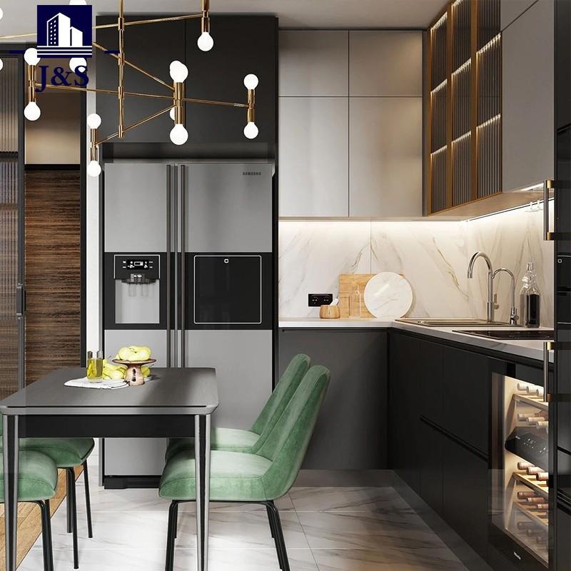 Unit dapur individu pembangun kabinet kabinet dinding dengan pintu