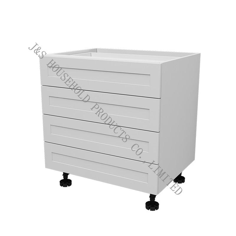 خزانة مطبخ من خشب البلوط الأبيض