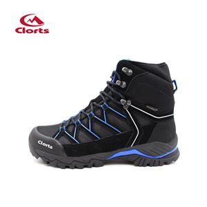 Clorts Mens Backpackiing Waterproof Hiking Boots Black