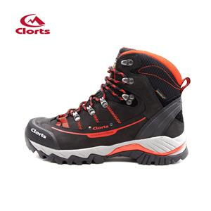 Clorts Mens Full-Grain Outdoor Waterproof Trekking Boots Vermelho