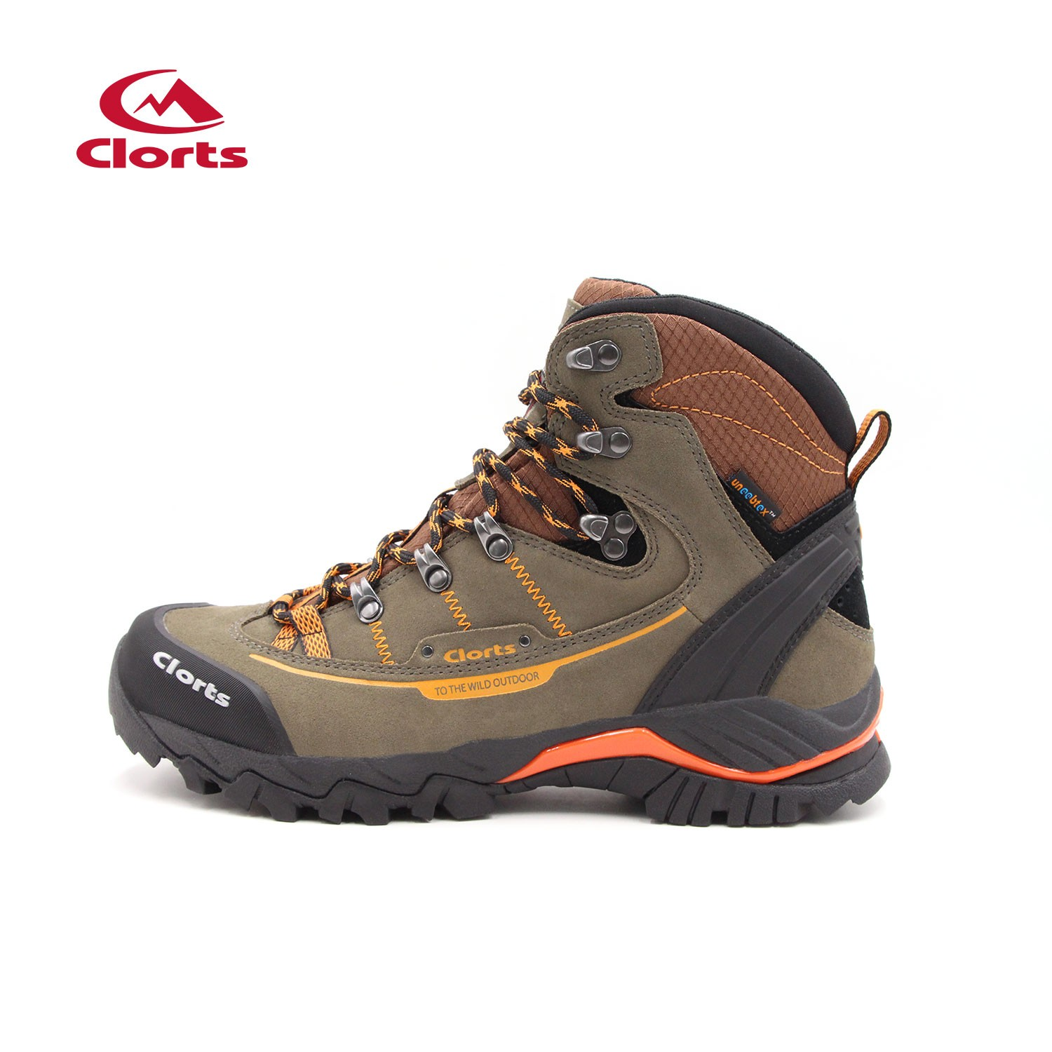 Clorts Mens Mid Outdoor Mochilero Trekking Trails Boots Marrón