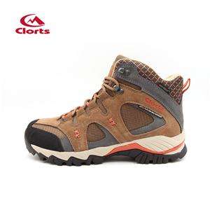 Clorts Mens Suede Mountaineering Hiking Boots Khaki