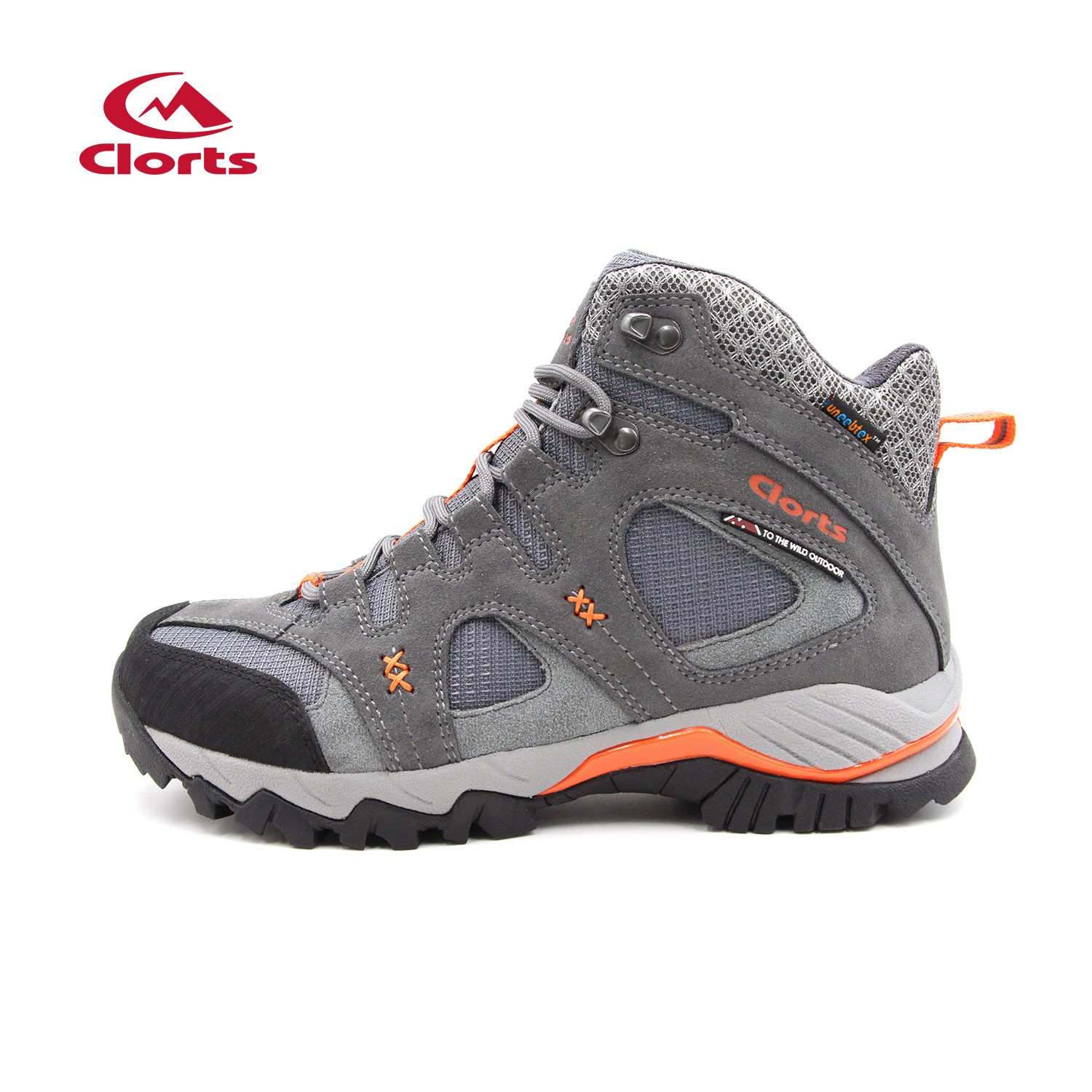 Clorts Adults Outdoor Waterproof Hiking Boots Grey