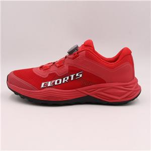 Clorts Mens Womens Road Racing Sneakers Red