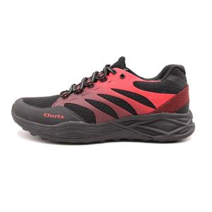Clorts Mens Athlete Lightweight Running Shoes Dark-Red