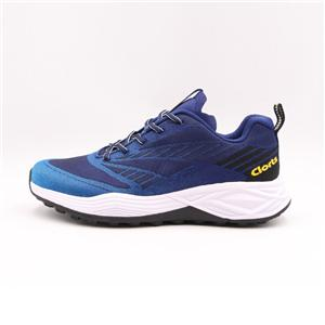 Clorts Mens Athlete Training Running Shoes Dark Blue