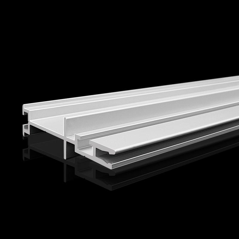 Silver Matt Anodized Aluminium Extrusion Profile