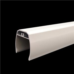 Powder Coated White Zebra Blind Lower Tube