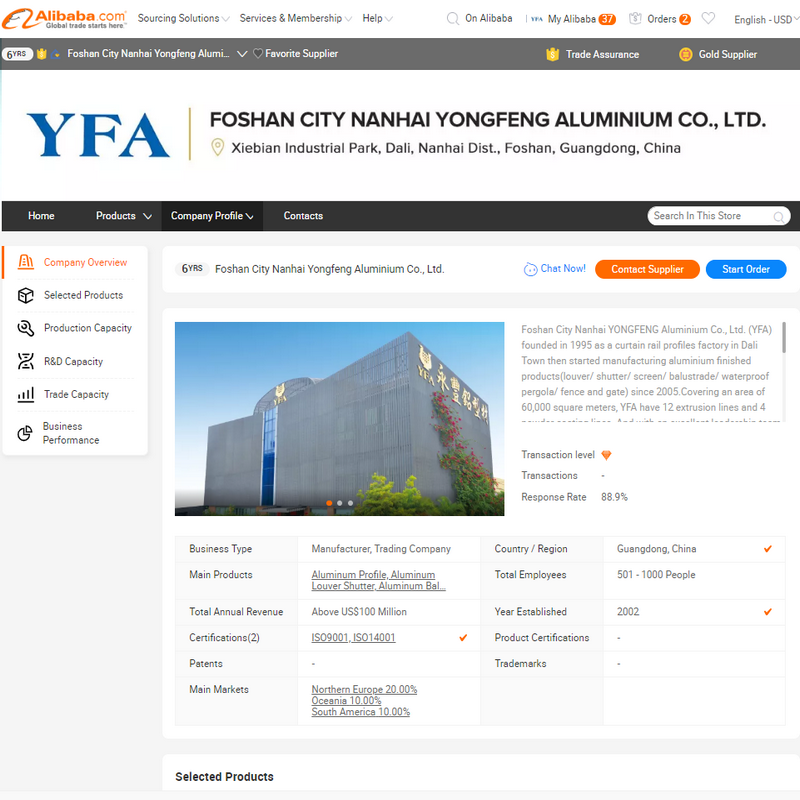 YFA является членом Alibaba.