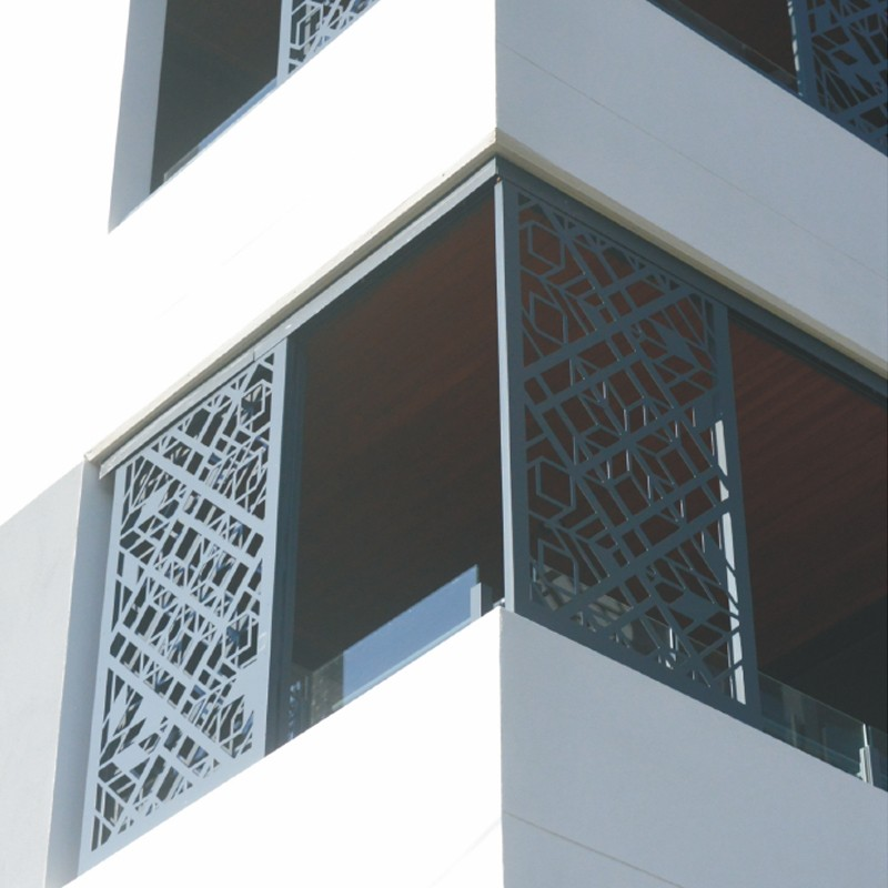 Decorative And Protective Sun Shading Louvers