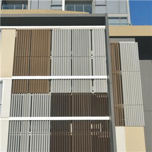 Aluminium Vertical Louver Shutter For Exterior