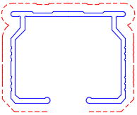 curtain track with end caps