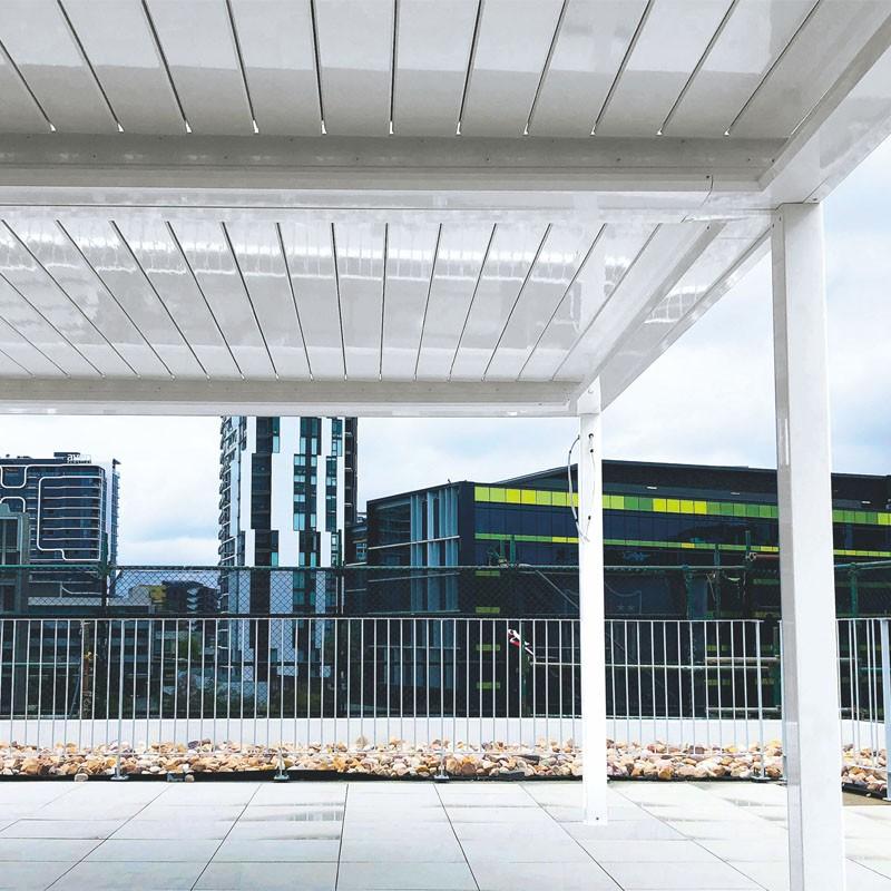 Aluminium Waterproof Pergola Opening Roof Louver