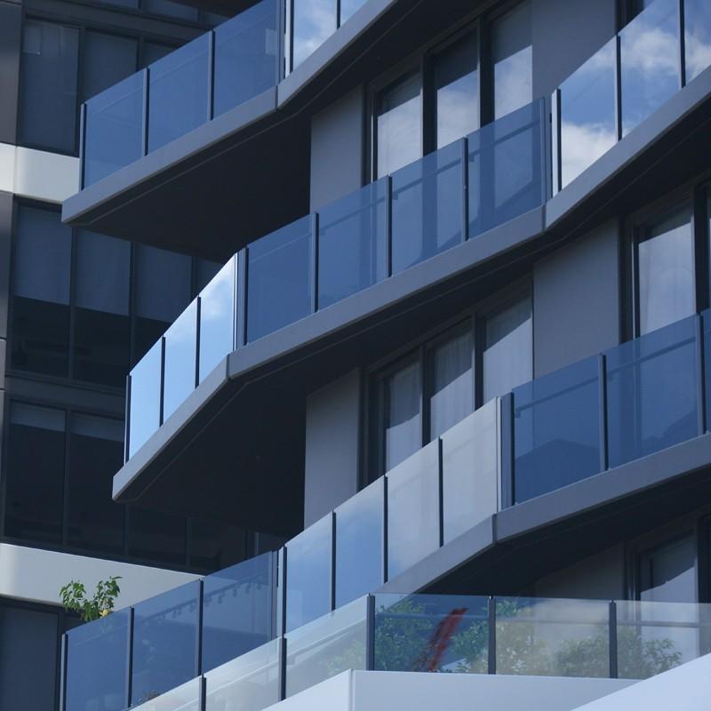 Modern Aluminum Glass Balustrade