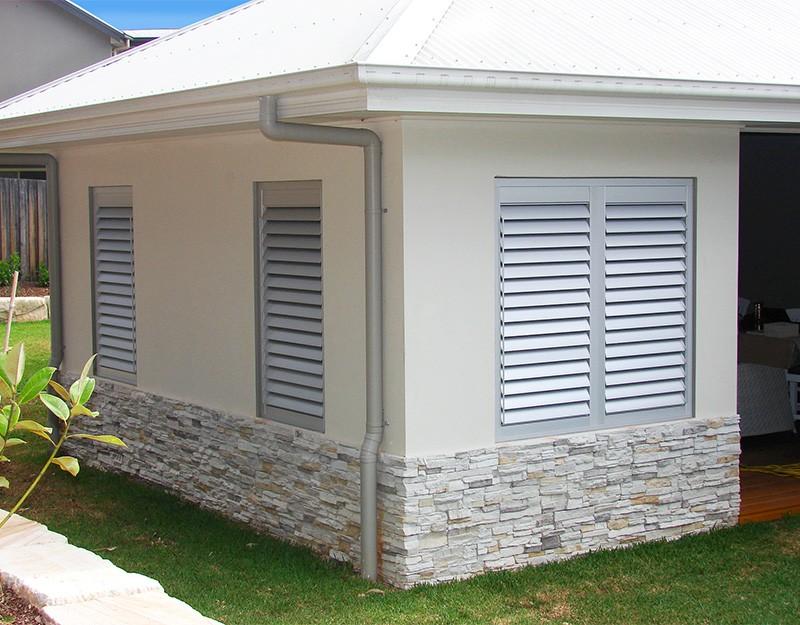 Aluminium External Fixed Shutter