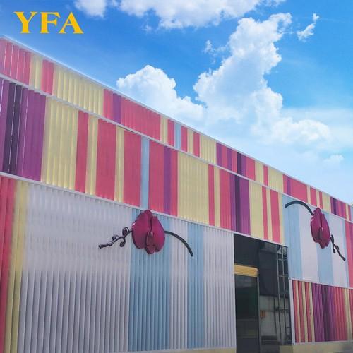Colourful Aerofoil Louvers For Building Decoration