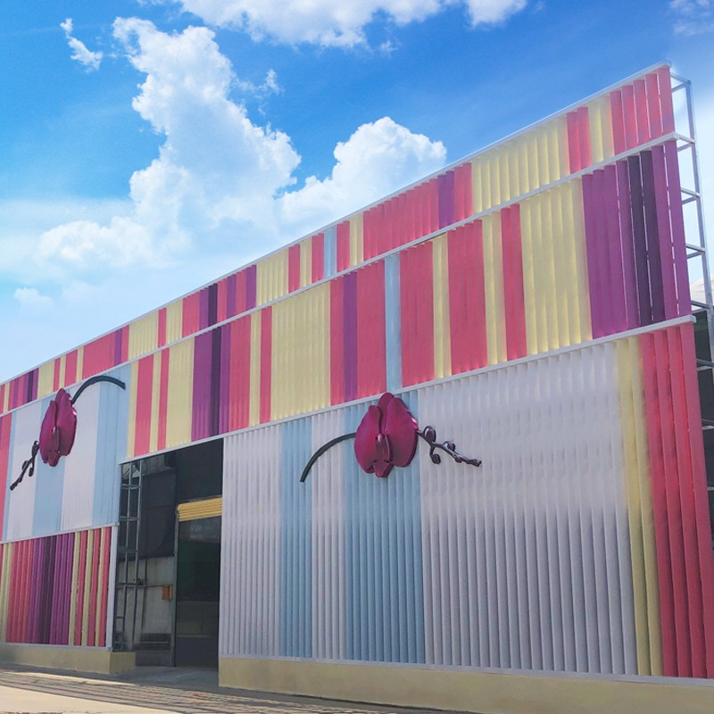 Colourful Aerofoil Louvers For Building Decoration