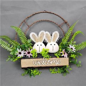 Easter bunny decoration with flowers