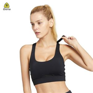 High Impact Adjustable Black Yoga Bra
