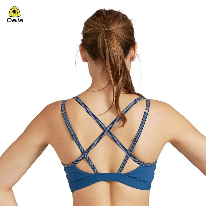 Blue Yoga Wear Women Sport Bra Top