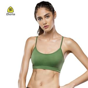 Athletic Mesh Layer Yoga Top Green Sport Bra